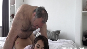 Super sexy latina college girl rough pussy fuck
