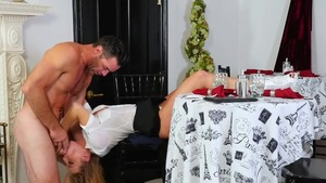 Dick sucking together with blonde Britney Amber