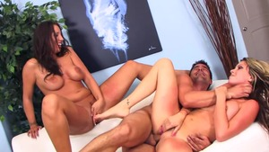 Group sex with big tits pornstar Courtney Cummz