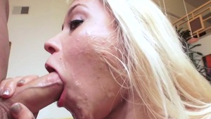 Gonzo receiving facial escorted by pornstar Marsha May