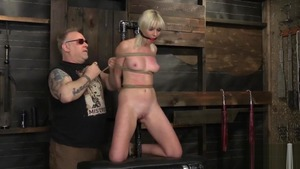 Blonde Marie Mccray feels the need for roped