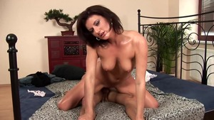 Sloppy fucking together with very hot brunette