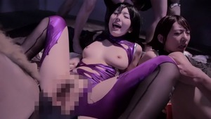 Japanese chick Yui Hatano censored group sex outdoors