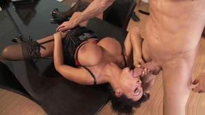 Lisa Ann in sexy stockings with Jordan Ash nailed rough